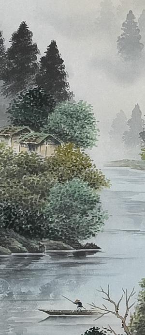 掛軸 彩色山水 小酒井桜谷 詳細画像